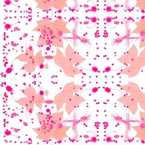 Tuliptree Leaves & Sycamore Seeds (Pink)