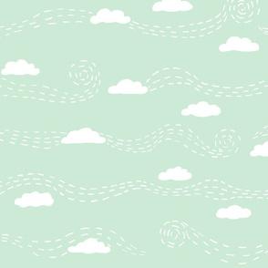 windy clouds mint