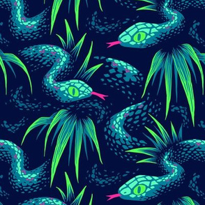 Mr Snake in the Rainforest - Green  - Medium Scale