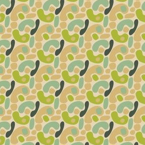 16-06p Green and Tan Folk Camouflage Abstract_Miss Chiff Designs