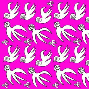 Soul Birds in Flight 2 Pink