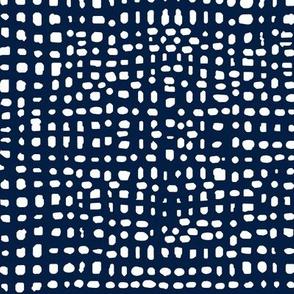 grid // weave navy blue coordinate kids baby nursery grids