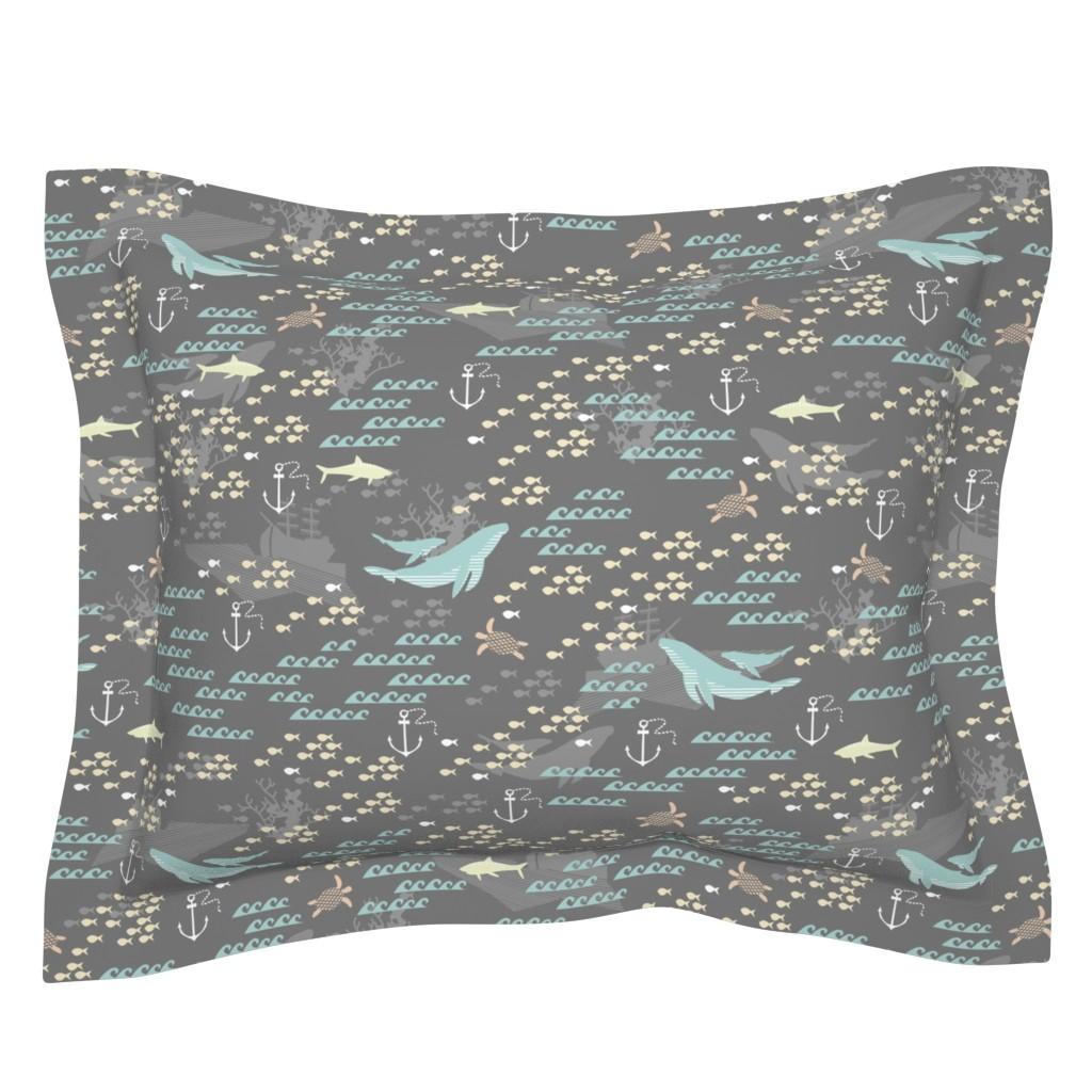 Sebright Pillow Sham featuring Deep Love by papercanoefabricshop