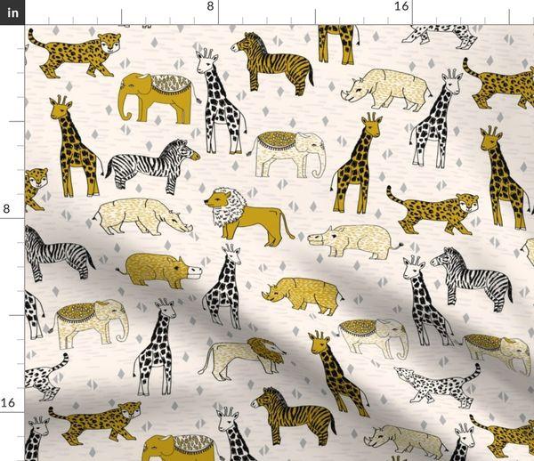 Novelty Fabric Kids Fabric Jungle Animal fabric 100/% cotton
