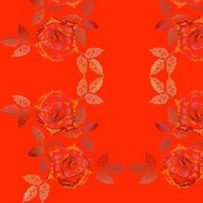 rose patchwork mini orange