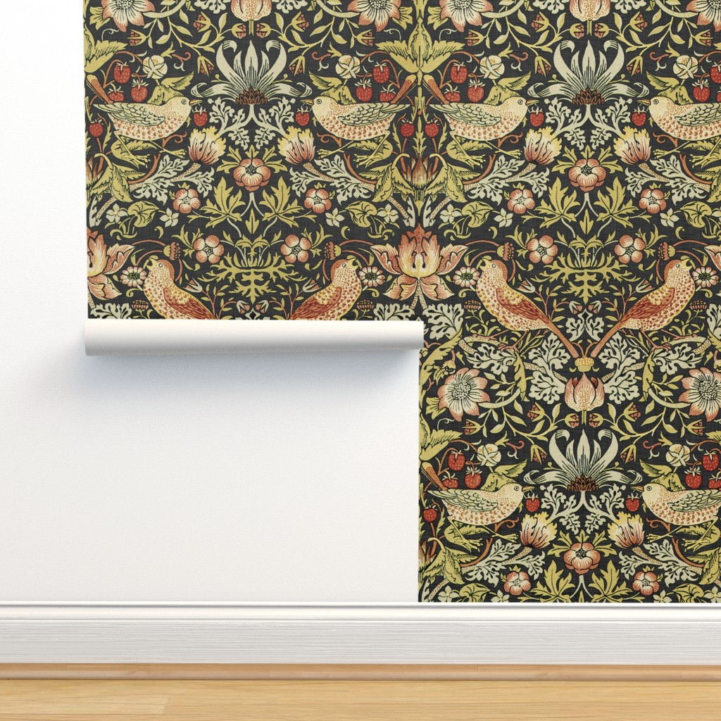 Isobar Durable Wallpaper featuring William Morris ~ Strawberry Thief ~ Soft by peacoquettedesigns