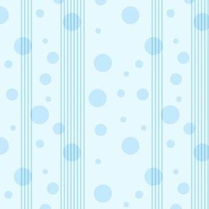 Pale Blue Polka-Dot Stripe