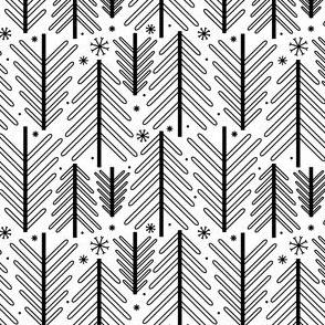 Holiday Trees - B&W
