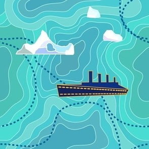 Ocean stories. Titanic voyage.