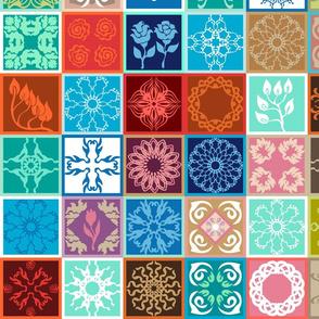 Ceramic tiles style pattern