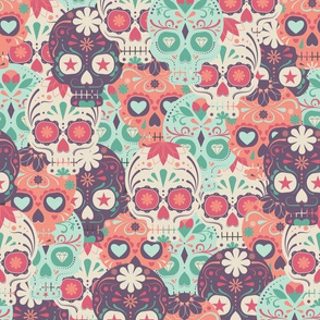 Pastel Sugar Skull by the Bunch Large