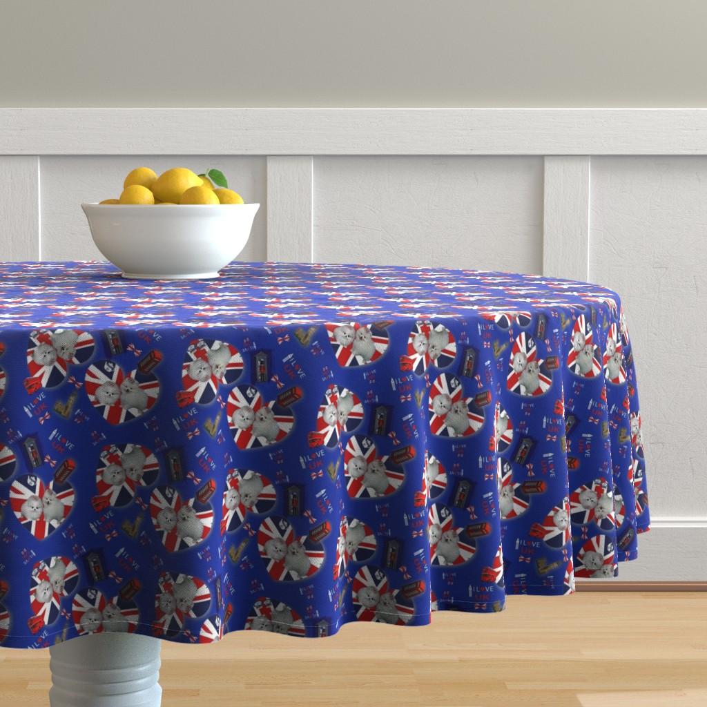 Malay Round Tablecloth featuring Pom U.K. Lover by barbyyy