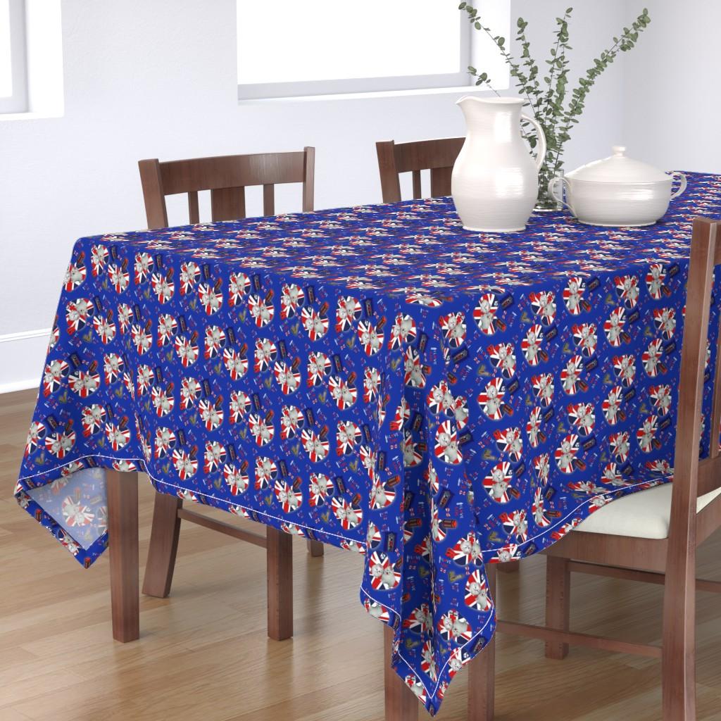 Bantam Rectangular Tablecloth featuring Pom U.K. Lover by barbyyy