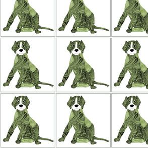 Dog Daze Paisley Green