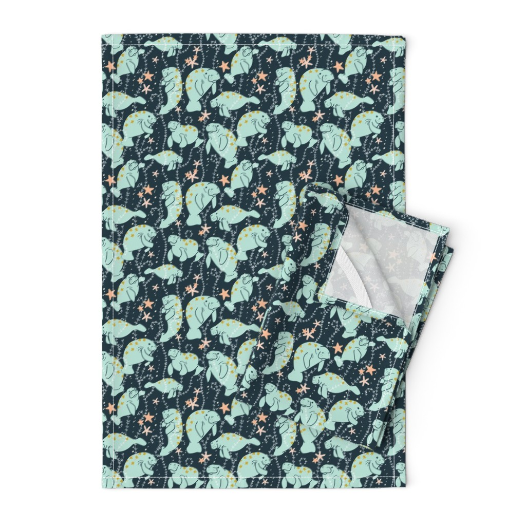 Orpington Tea Towels featuring Oh, the Hue-Manatee *Updated*  by actuallycharming