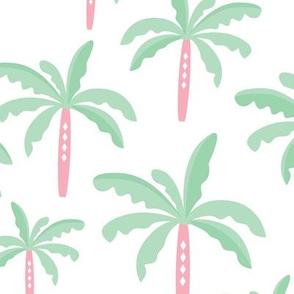 Summer palm tree beach coconut pastel bikini tropics illustration print in mint LARGE Jumbo