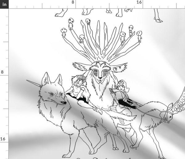 Princess Mononoke Spoonflower