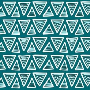 Triangulate - Geometric Dark Teal