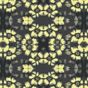 Banana flower on black