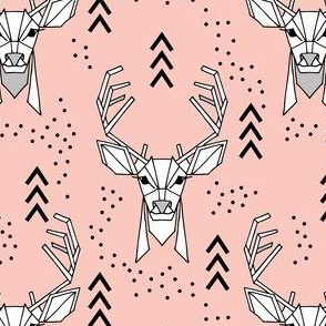 Deer geometric // Pink and Black
