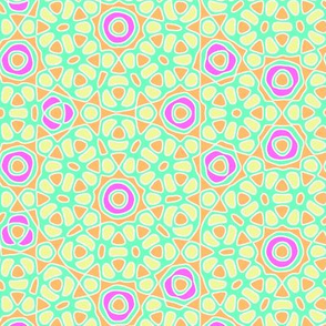 hawaiian flower tile - tutti frutti