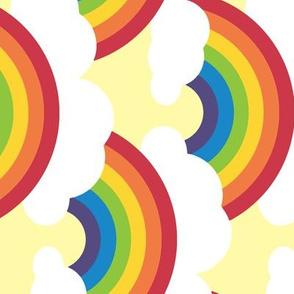 large circle rainbow - bright skies sideways
