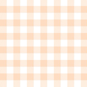 "Pale peach and white 5/8"" gingham check"