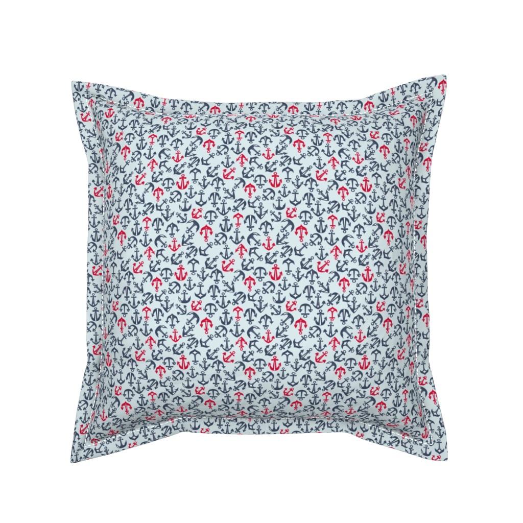 Serama Throw Pillow featuring Anchor Drop by angelastevens