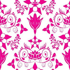 Floral Damask Magenta RGB-EC008C