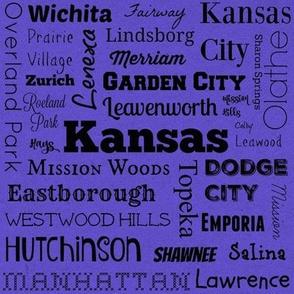 Cities of Kansas, purple