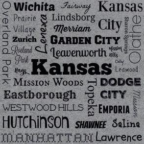 Cities of Kansas, gray