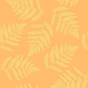 Hawaiian fern - pale gold on yellow-orange
