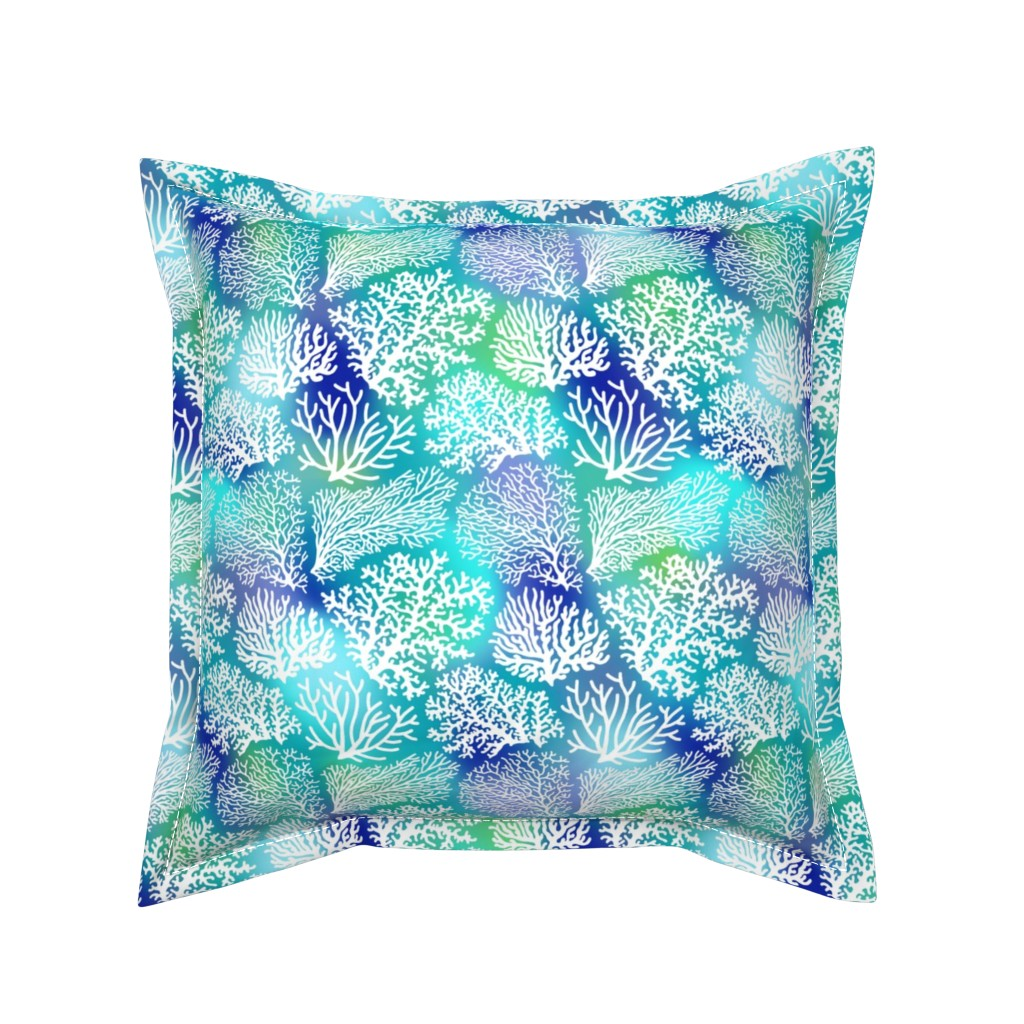 Serama Throw Pillow featuring coral field  by mirabelleprint