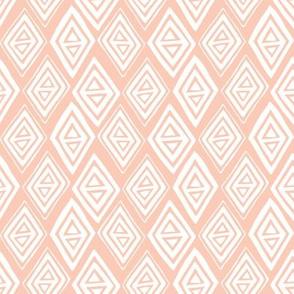 Diamond In The Rough - Geometric Pink
