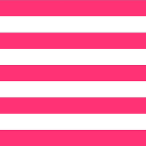 Hot Pink and White Stripe