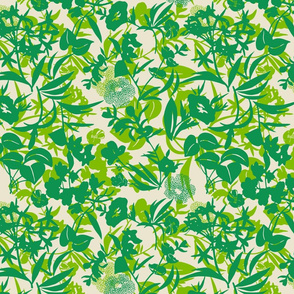 jungle canopy - grass/spring/sand