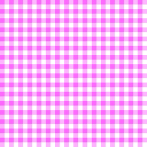 Hawaiian gingham - pink and white