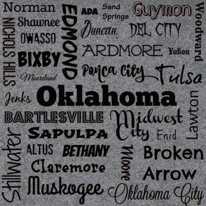 Cities of Oklahoma, grey