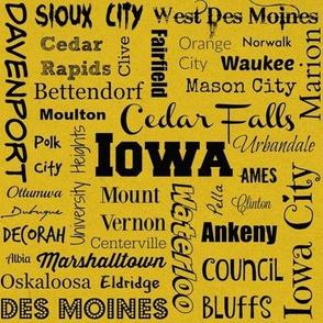Cities of Iowa, yellow