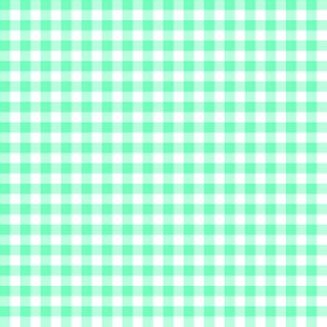 Hawaiian gingham - aqua green and white