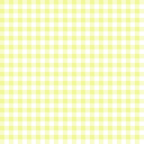 Hawaiian gingham - yellow and white