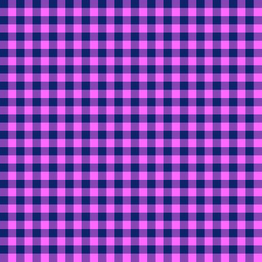 Hawaiian gingham - navy and pink