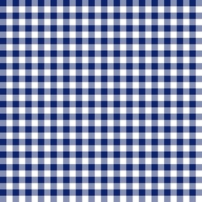 Hawaiian gingham - navy and white