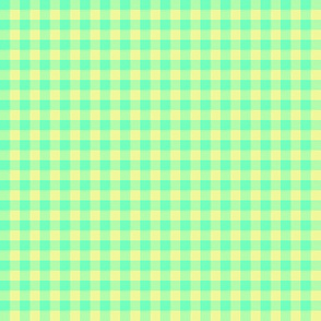 Hawaiian gingham - aqua and yellow