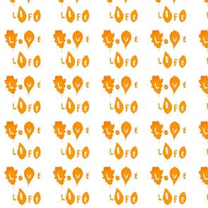 Love Life (Orange on White)
