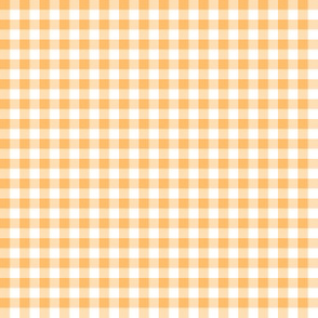 Hawaiian gingham - yellow-orange and white