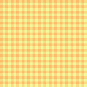 Hawaiian gingham - yellow-orange and pale gold