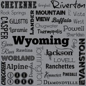 Cities of Wyoming, grey