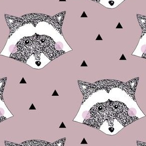 Racoon Dusty Pink