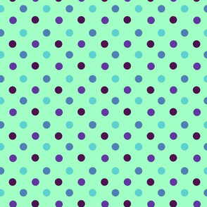 Pacific Ocean Polka Dots by Cheerful Madness!!